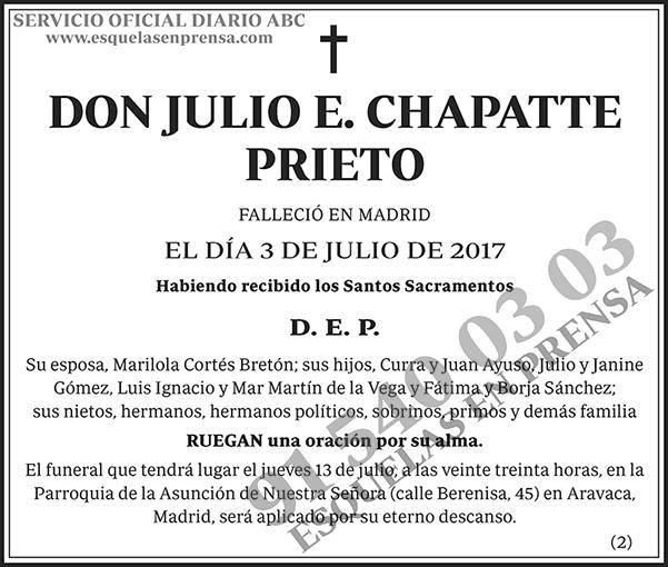 Julio E. Chapatte Prieto